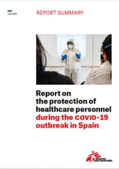 Report summary (2 pages) - The protection of healthcare personnel during the COVID-19 outbreak in Spain